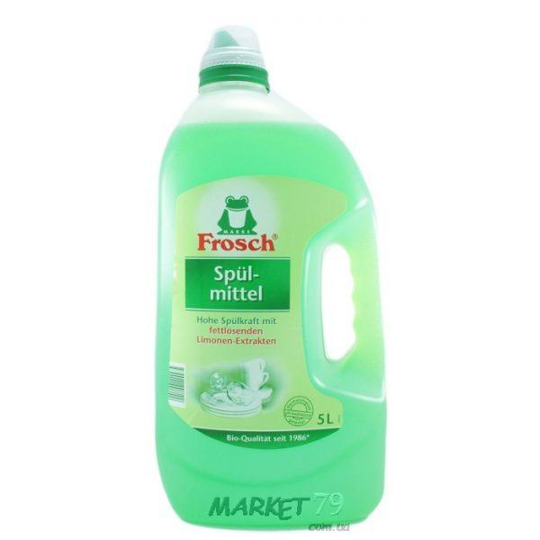 market79.com.ua-Средство для мытья посуды Frosch Зеленый лимон 5 л
