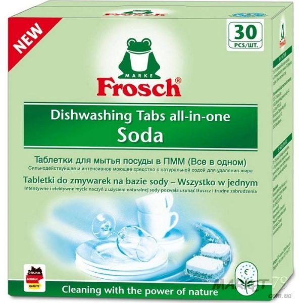 market79.com.ua-Таблетки для мытья посуды в посудомоечных машинах Frosch Сода 30 шт